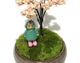 Moss Terrarium Set  / Tiny Miniature Moss Garden / Miniature Garden / Desktop Garden