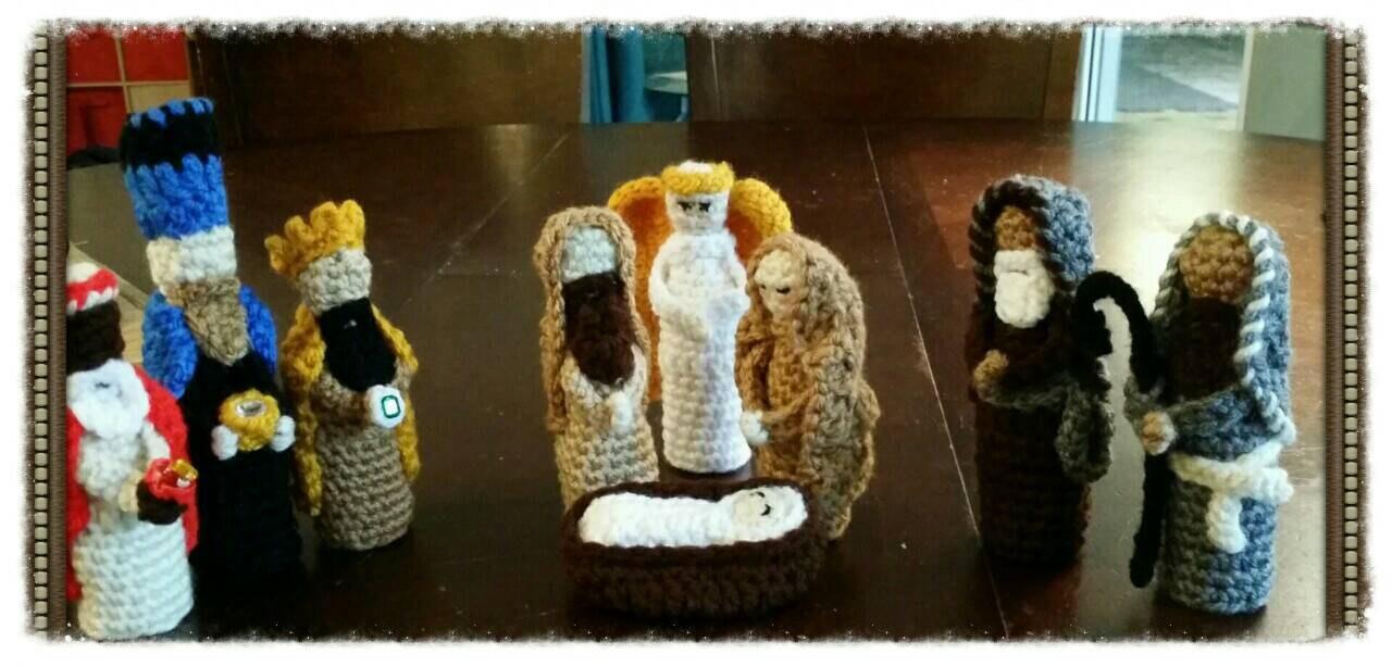 Amigurumi Nativity : Amigurumi Nativity handmade soft manger by 1AmigurumiCreations