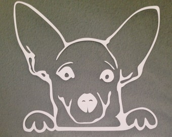 Chihuahua (A17) Vinyl Decal Sticker Car/Truck Laptop/Netbook Window