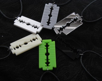 Razer blade acrylic necklace laser cut