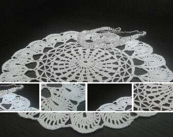 Openwork  doily handmade, white black or beige to choose color. Element of home decor. A perfect giftt. Made in the style of cottage chic.