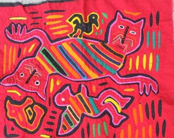 Mola - Authentic Kuna Indian art from Panama San Blas Islands
