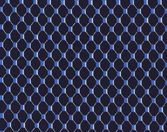Fabric, Fishnet Fabric by Michael Miller, Nautical Fabric, Navy Fabric
