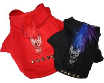 Red Dog Hoodie-PAWnk Glam