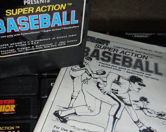 Coleco Vision Super Action Baseball 80's Video Game Old School Gaming