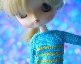 Sweater yellowblue Dal Obitsu 23 21 sweet button