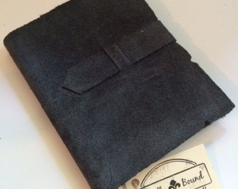 Black Suede Journal with Strap Closure