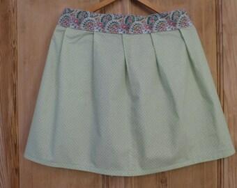 Retro Pinny / Apron in Green Polka Dot Fabric