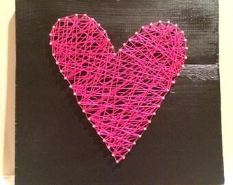 heart string art.