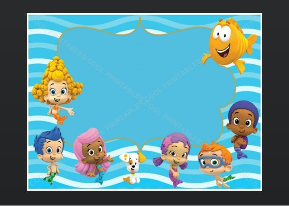 Bubble Guppies Invitations Templates is amazing invitation sample