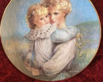 "W.S. George 1989 The Bonds of Love Collection by Brenda Burke ""Precious Embrace"""