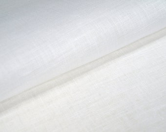 White Pure Linen Flax Fabric Light Soft Texture For Clothing