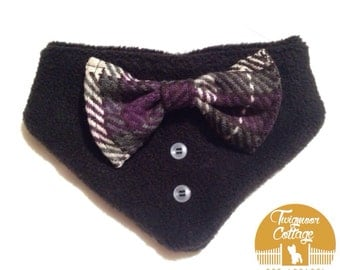 Dog bow tie bandana