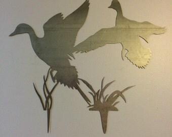 Duck Scene Metal Wall Art