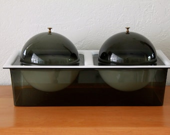 REDUCED! Retro/Mid Century Modern Double Lucite Server