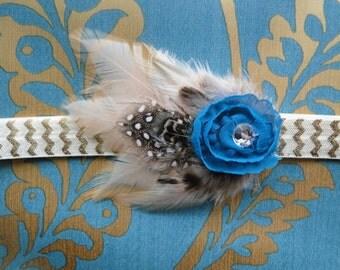 Little Blue Bird Headband