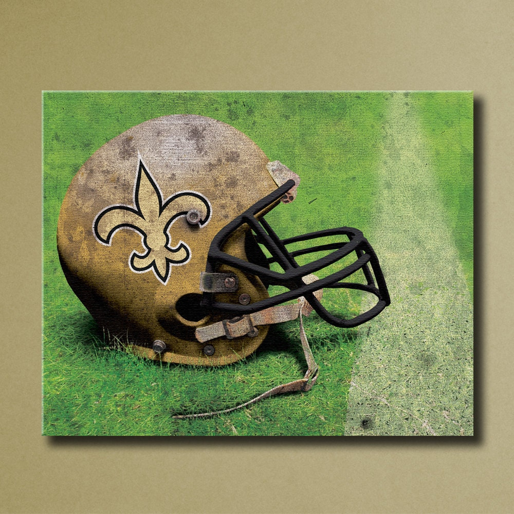 New Orleans Saints Canvas Wall Art Grunge Football By
