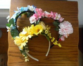 Custom Flower Head Bands