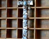Mosaic Mission Cross with Rustic Finish