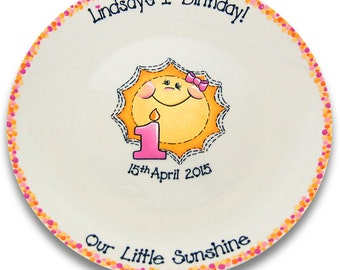 My Little Sunshine Birthday Signature Platter