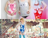 SALE Limited Edition New York Couture Fairytale Collection ELEPHANT Tank Top (celebrity fans include Katy Perry)