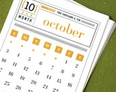 MATCHBOX Printable Mini Calendar 2016 2017 Digital Instant Download Vintage Typography Retro Typewriter Organizer Planner Downloadable PDF