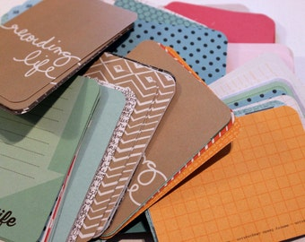 Random Assortment of Project Life Journaling & Decorative Cards- 3x4 inch- 100 Cards