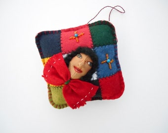 Multicultural Ornament, Día de los Reyes, Little Patchwork Girl , Three Kings Day Ornament/Decoration