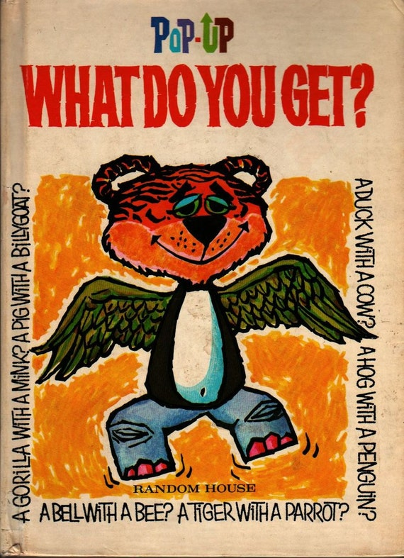 Pop Up What Do You Get? - 1970s - Vintage Kids Book