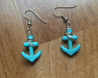 Handmade ANCHOR Charm Earrings