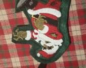 Zombie Santa Ornament Christmas Horror Holiday Plush Gift Tag