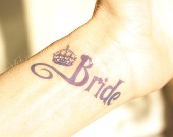 Bride and Team Bride fake bachelorette tattoos
