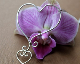Sterling Silver Mother's Heart Pendant
