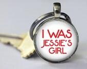 I Was Jessie's Girl - Key Chain - 80's Retro - 25mm Round