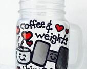 "Handmade ""coffee & weights, things I love to lift."" Mugs"