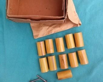 Vintage 1930s Drawer Pulls Butterscotch Bakelite Amber Set of 11 2014J27