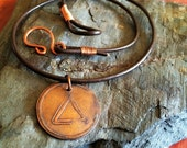 Etched Fire Necklace
