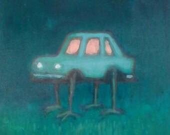 car creature original painting