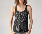 Art Deco Print, Graphic Tank Top, Racerback Tank, Yoga Clothes, Women's Tank Top, Women's Graphic TShirt, Vintage Design