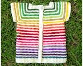 Le Faon Jacket Cardigan Tunisian crochet handmade DIGITAL pattern video tutorial fawn boy girl afghan tricot sweater