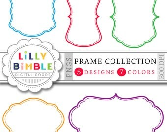40% off 70 Digital Frames clipart Banners, labels Frame collection for cards, scrapbooking Digital Download