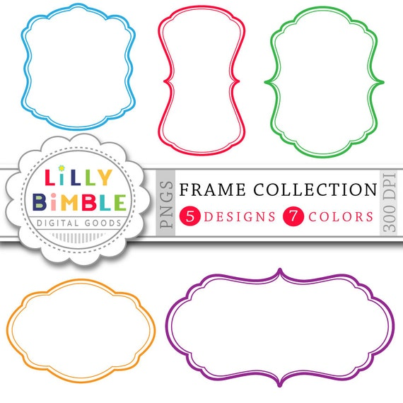 70 Digital Frames clipart Banners, labels Frame collection for cards ...