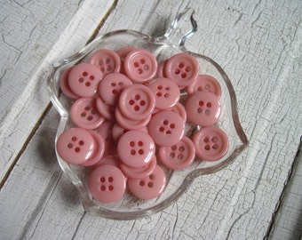 buttons vintage baby girl pink set of 25