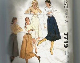 McCall's Misses' Skirts Pattern 7719