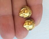 Buddha post earrings