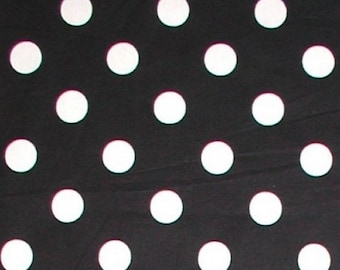 black white fabric polka dot dots 1 14 yards 44 wide cotton quilting big