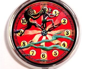 Surreal Fantasy Clock Pill box Pill Case Holder Pillbox