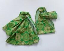 Doll Carrying Ring Sling - Baby Doll Sling - Baby Doll Wrap - Toy Carrier - Babywearing - Doll Ring Sling - Sibling Set - Green Mandala