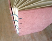 Medium Journal Pink 8x5.5 inches - unlined hand torn pages - Ready to Ship