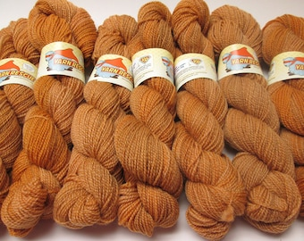 Falkland Fingering Solids - Hand dyed gradient wool yarn, 210 yards, 50g/1.8oz, CHESTNUT, painted semisolid shawl sock handdyed ombre